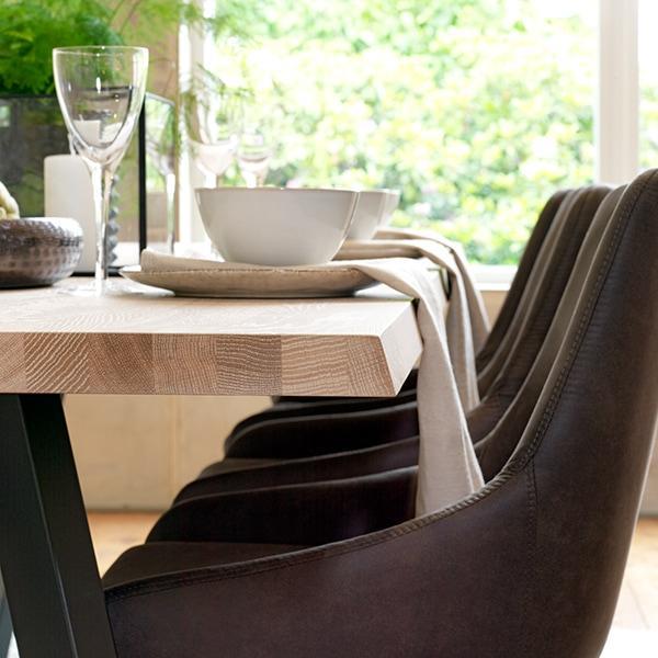 Rowico Fred-ruokapöytä valkopesty tammi