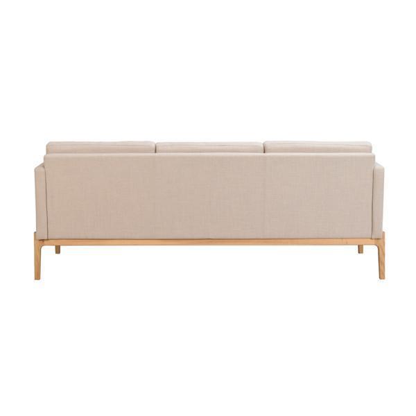 Rowico Ness-sohva beige takaa