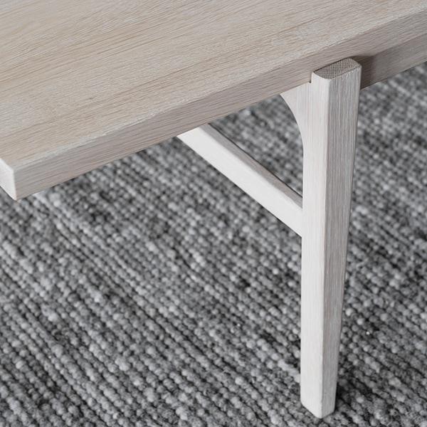 Rowico Ness-sohvapöytä valkopesty tammi