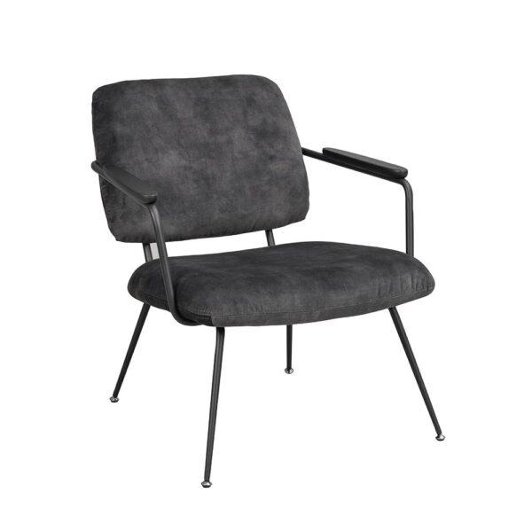 Rowico Prescott-nojatuoli tummanharmaa sametti