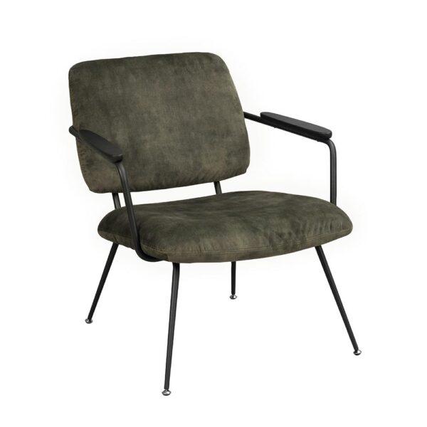 Rowico Prescott-nojatuoli tummanvihreä sametti