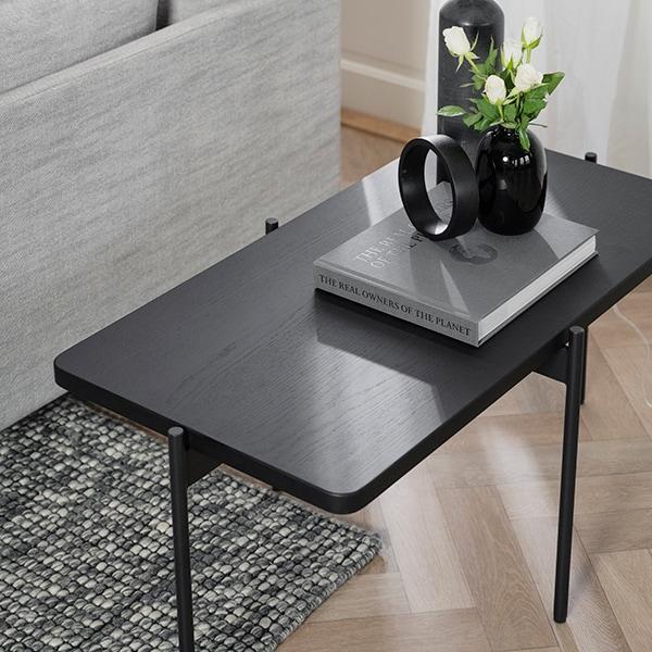 Rowico Shelton-sohvapöytä musta