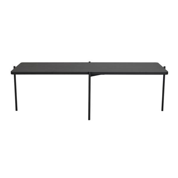 Rowico Shelton-sohvapöytä musta 145 cm