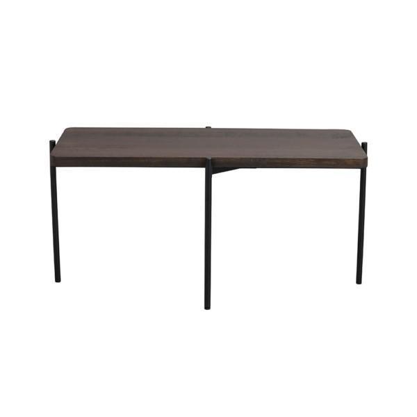 Rowico Shelton-sohvapöytä tummanruskea 95 cm