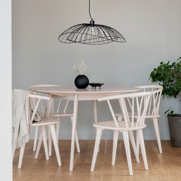 Rowico Yumi-ruokapöytä pyöreä valkopesty