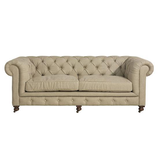 Artwood Kensington-sohva vaalea pellava